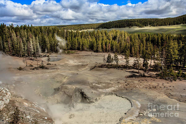 Yellowstone Caldera Photograph - Mud Volcano by Robert Bales