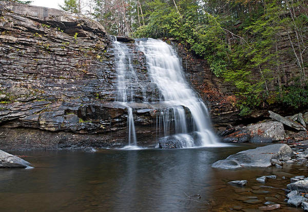Swallow Falls State Park Wall Art - Photograph - Muddy Creek Falls In Swallow Falls State Park Maryland by Brendan Reals