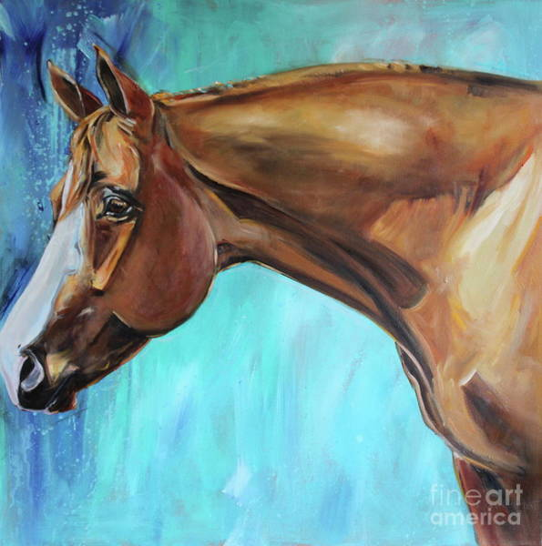 Aqha Painting - Mudflap by Maria's Watercolor
