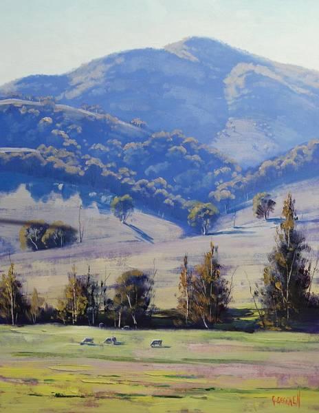 Summer Scene Painting - Mudgee Hills by Graham Gercken