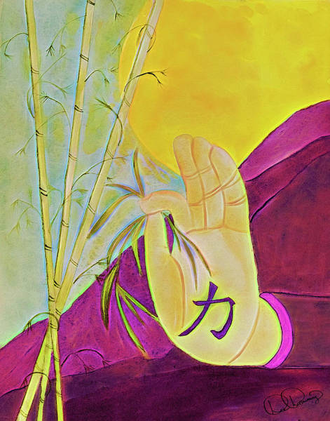 Painting - Mudras Of Bamboo Harvest by Dee Browning