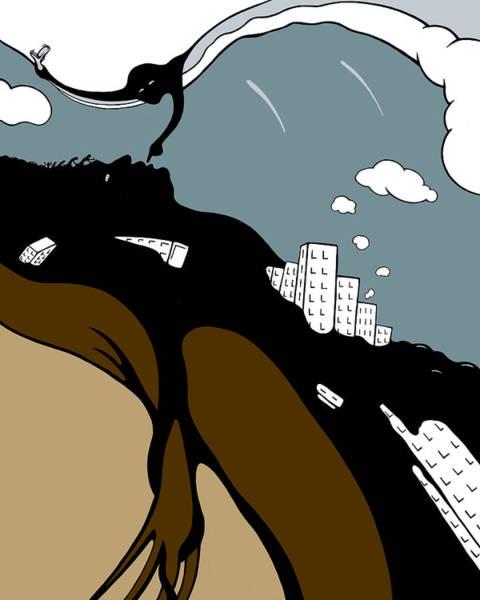 Drawing - Mudslide by Craig Tilley