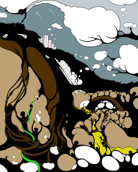 Drawing - Mudslide Serenity by Craig Tilley
