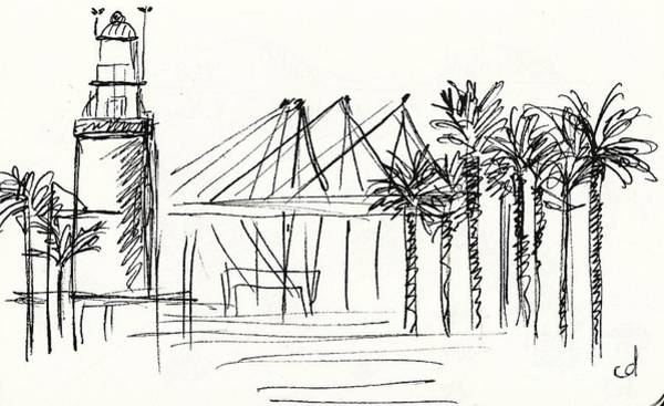 Drawing - Muelle Uno In Malaga by Chani Demuijlder