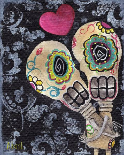 Lesbian Wall Art - Painting - Muertos De Amor by Abril Andrade Griffith