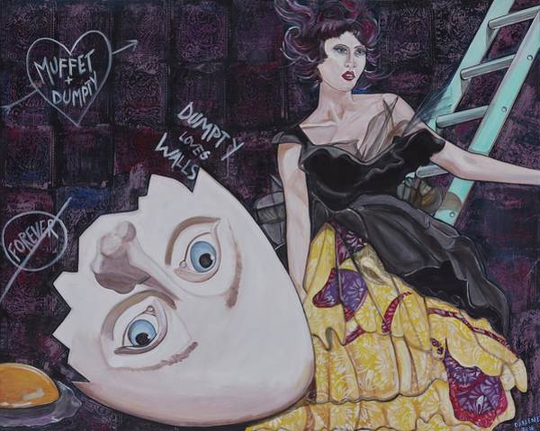 Broken Egg Painting - Muffet And Dumpty by Darlene Graeser