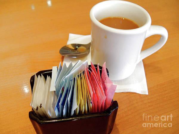 Wall Art - Photograph - Mug Of Coffee And Sweeteners Holder by William Kuta