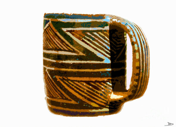 Anasazi Painting - Mug Of The Anasazi by David Lee Thompson
