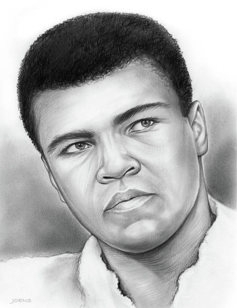 Boxer Wall Art - Drawing - Muhammad Ali by Greg Joens