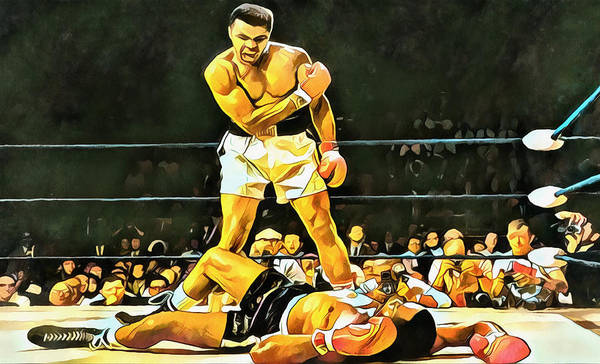 Wall Art - Painting - Muhammad Ali Knockout by Dan Sproul