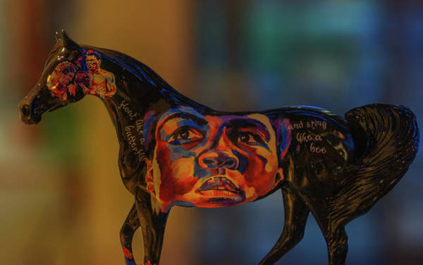 Wall Art - Photograph - Muhammad Ali Painting On Horse Statue by Art Spectrum