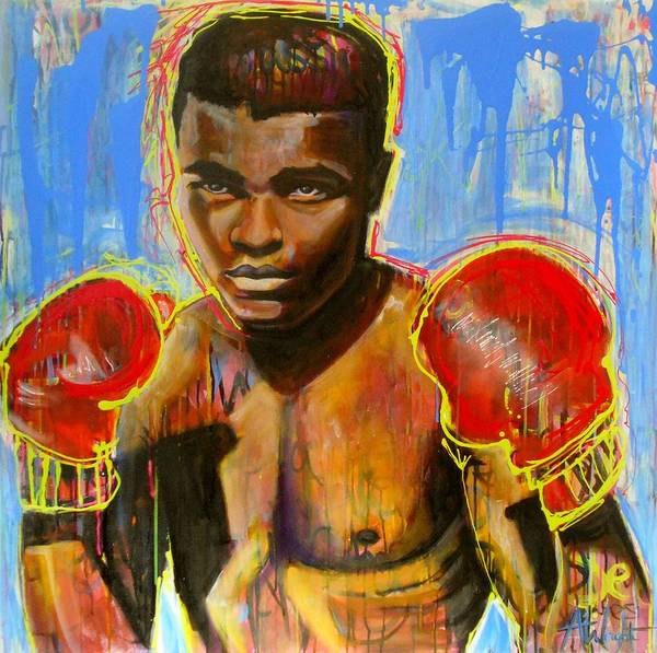 Big Fight Painting - Muhammed Ali by Angie Wright