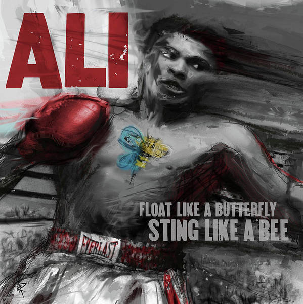Boxing Mixed Media - Muhammed Ali by Russell Pierce