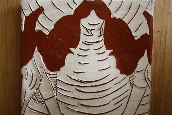 Ceramic Art - Mukama Atulabba - God Sees Us - Tile by Gloria Ssali