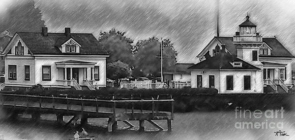 Digital Art - Mukilteo Lighthouse And The Dock by Kirt Tisdale