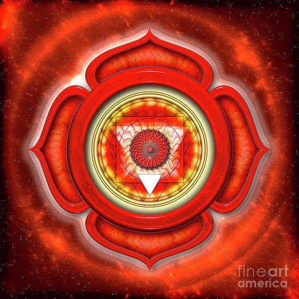 Wall Art - Digital Art - Muladhara Chakra - Series Open Chakra by Dirk Czarnota