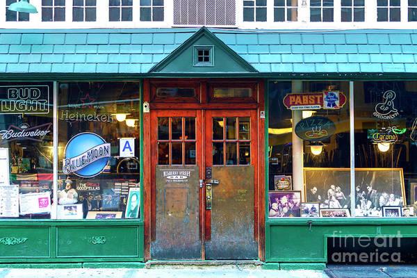 Photograph - Mulberry Street Bar Windows New York City by John Rizzuto