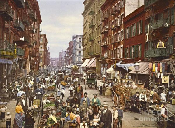 Wall Art - Photograph - Mulberry Street Market New York City 1900 by Padre Art