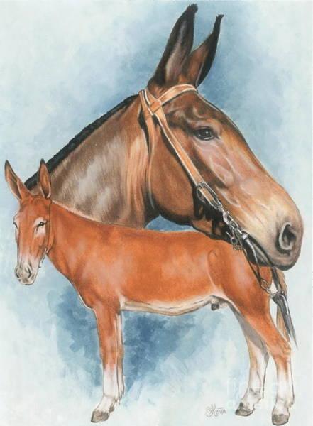 Mixed Media - Mule by Barbara Keith