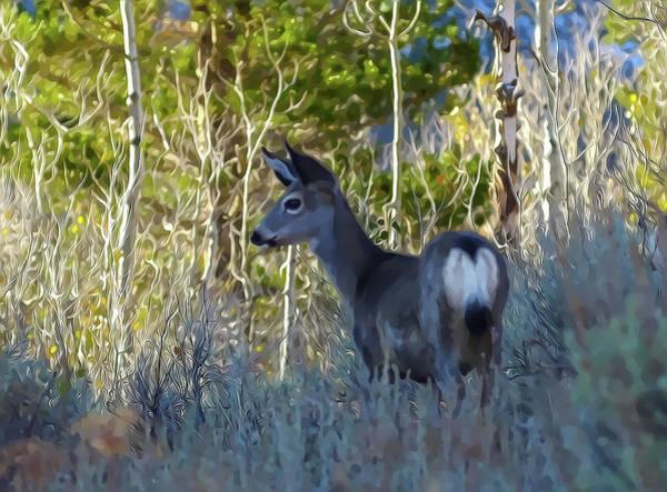 Mixed Media - Mule Deer A Stylized Landscape By Frank Lee Hawkins by Frank Lee Hawkins Eastern Sierra Gallery