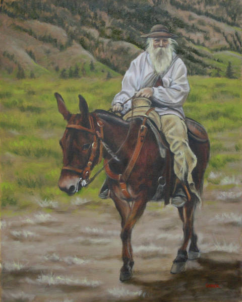 Painting - Mule Walk by Todd Cooper