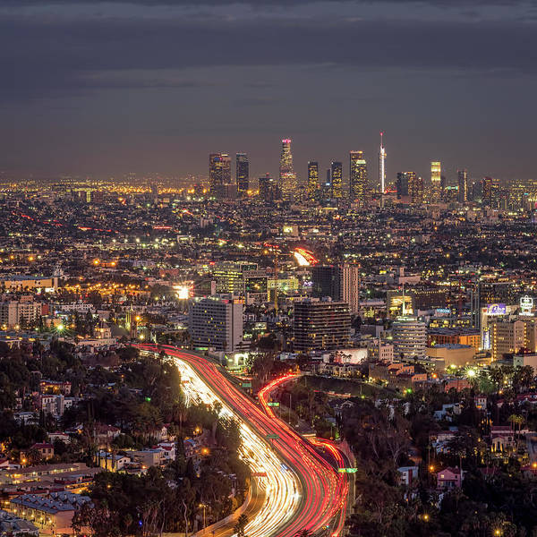 Photograph - Mulholland Drive View by Brad Boland