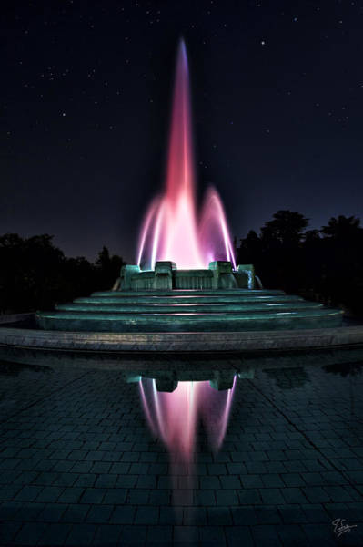 Photograph - Mulholland Fountain by Endre Balogh