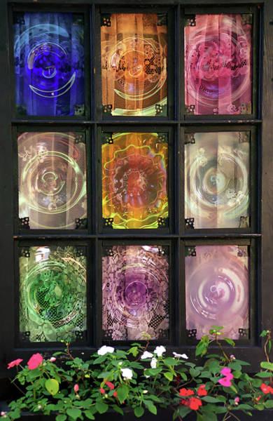 Wall Art - Photograph - Multi-colored Glass Window by Alynne Landers