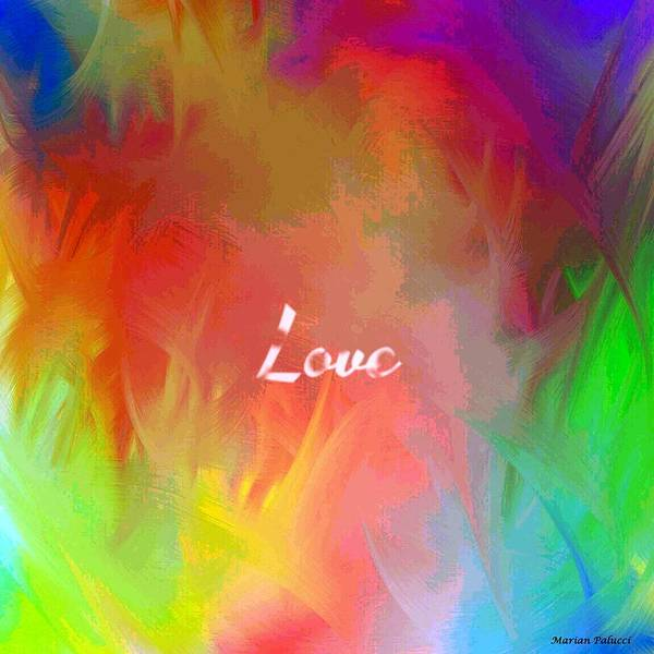 Mixed Media - Multi-colored Love by Marian Palucci-Lonzetta