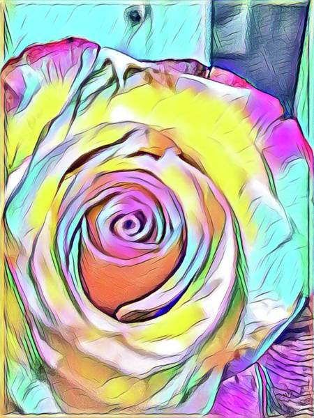Multi-colored Rose Art Print