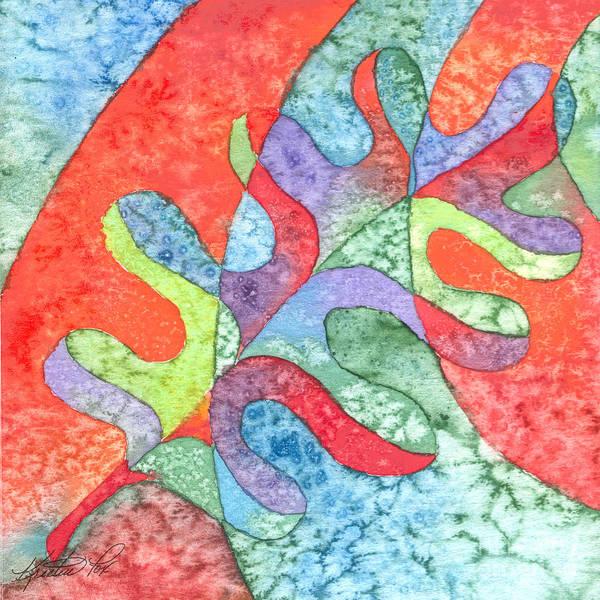 Painting - Multicolor Oak Leaf by Kristen Fox