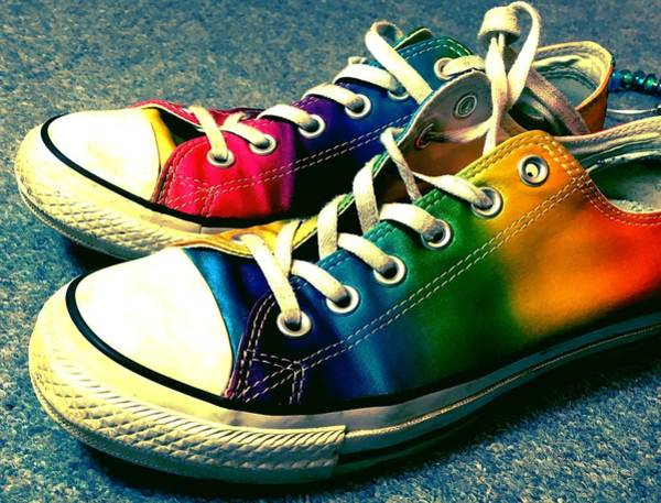 17d1b430d2 Converse All Star Wall Art - Photograph - Multicolored Sneakers 5 by Mo  Barton