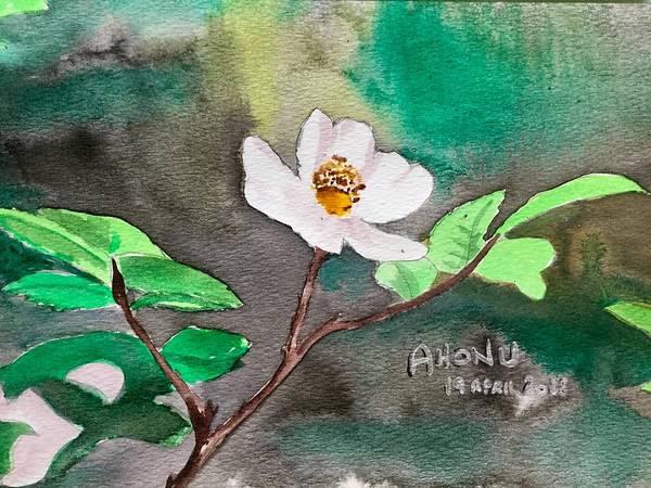 Painting - Multiflora Rosa by Ahonu