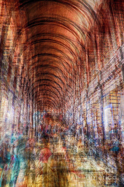Photograph - multiple exposure of Dublin public library  by Ariadna De Raadt