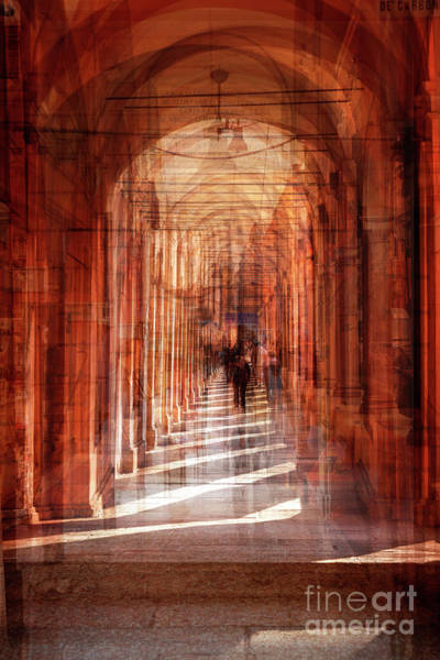 Photograph - multiple exposure of  street arcade, Italy  by Ariadna De Raadt