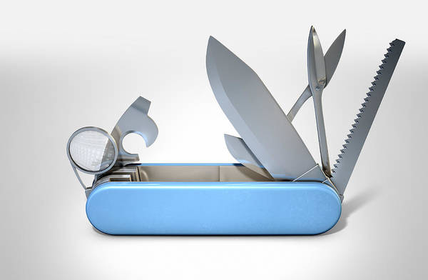 Camping Wall Art - Digital Art - Multipurpose Penknife by Allan Swart