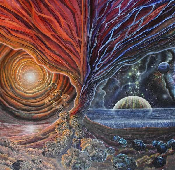 Quantum Physics Painting - Multiverse 3 by Sam Del Russi