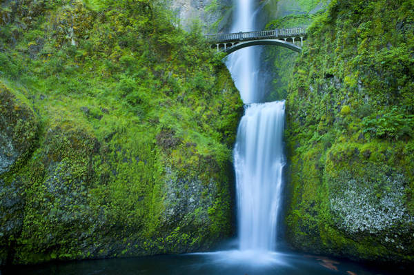 Photograph - Multnomah Falls by Don and Bonnie Fink