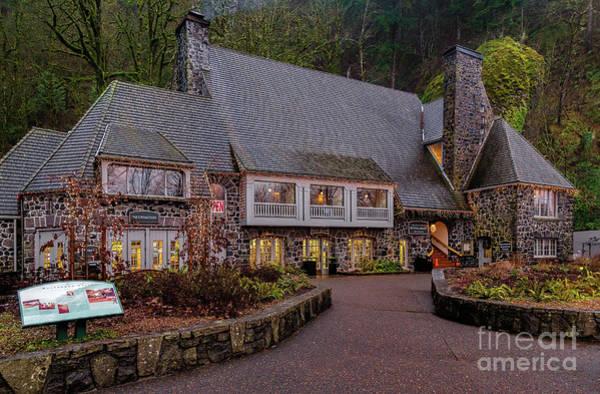 Photograph - Multnomah Falls Lodge by Jon Burch Photography