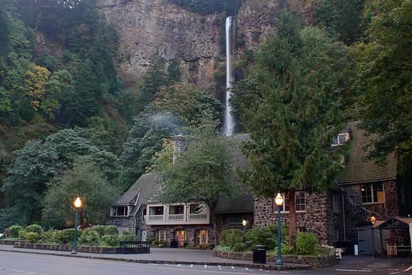 Photograph - Multnomah Falls Lodge Morning by Todd Kreuter