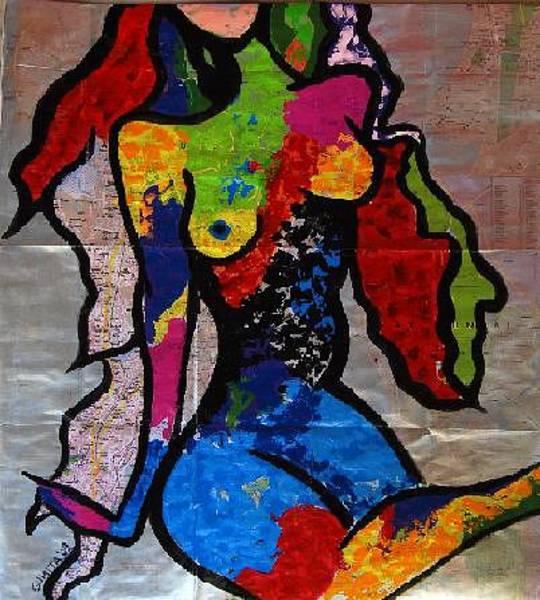 Mumbai Painting - Mumbai Portrait by Sumita Acharya