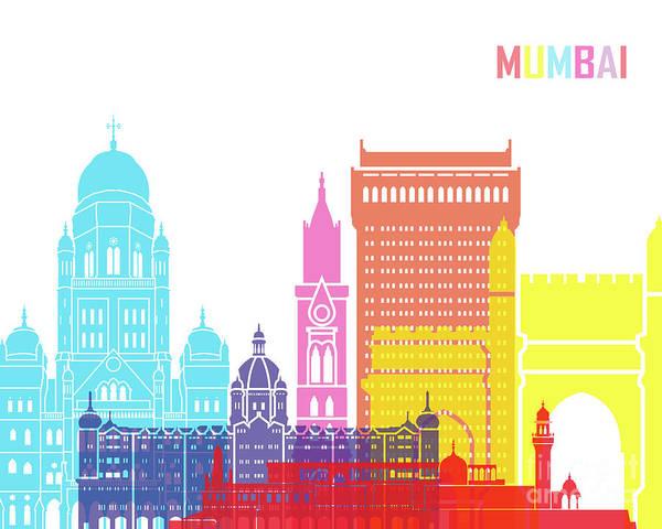 Mumbai Painting - Mumbai Skyline Pop by Pablo Romero