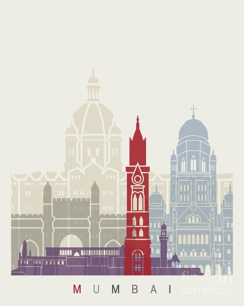 Mumbai Painting - Mumbai Skyline Poster by Pablo Romero