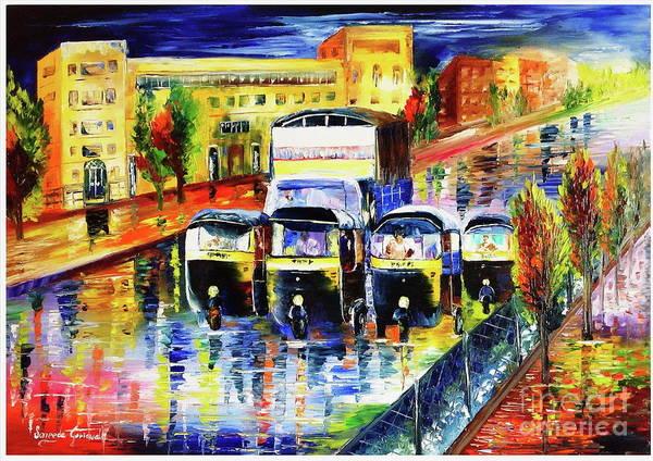 Mumbai Painting - Mumbai's Autorickshaw by Sayeeda Goriawala