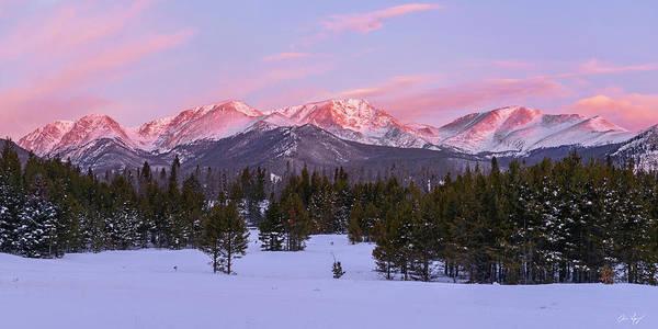 Wall Art - Pyrography - Mummy Range Winter Sunrise by Aaron Spong