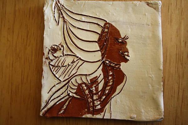 Ceramic Art - Mums Babe - Tile by Gloria Ssali
