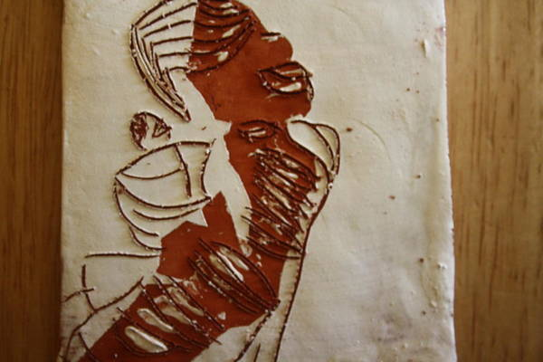 Ceramic Art - Mums Done - Tile by Gloria Ssali
