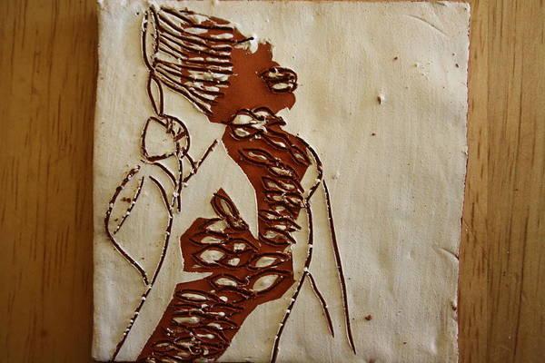 Ceramic Art - Mums Home - Tile by Gloria Ssali