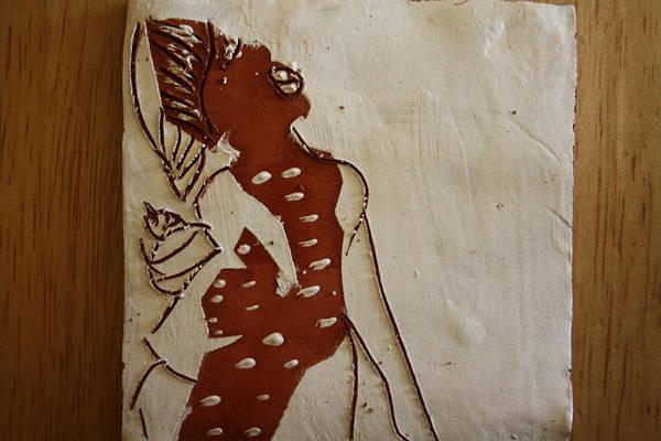 Ceramic Art - Mums Parcel - Tile by Gloria Ssali