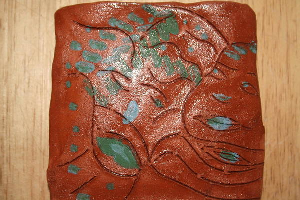 Ceramic Art - Mums Smiles - Tile by Gloria Ssali